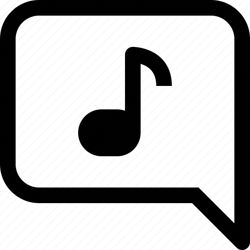 bubble, business, communication, message, music, speech, talk icon