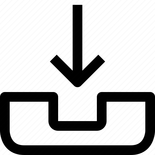 arrow, call, down, phone icon