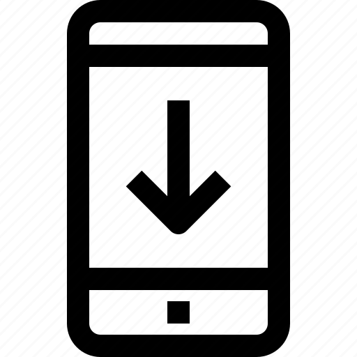 arrow, business, communication, device, down, message, smartphone, talk icon
