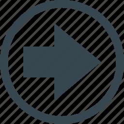 arrow, arrows, direction, move, navigation, next, round icon