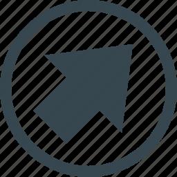 arrow, arrow diagonally, diagonally, direction, navigation, pointer, right icon