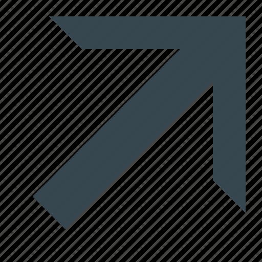 arrow, arrow diagonally, arrows, diagonally, direction, navigation, pointer icon