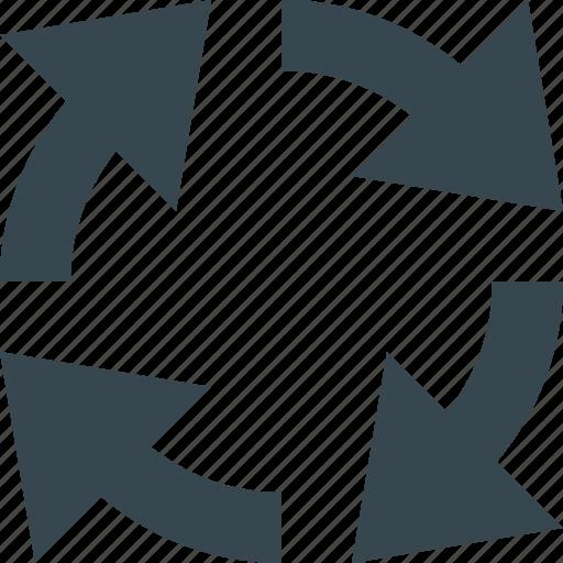 arrow, arrows, circular, circular arrows, direction, navigation, round icon