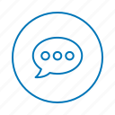 bubble chat, chatting, communication, contact, message, talk icon