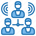 chat, group, information, meeting, office, people, teamwork icon