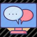 desktop, desktop messaging, messaging icon