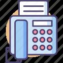fascimile, fax, hotline, landline, telephone