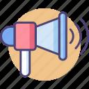 advertising, audio, bullhorn, loudspeaker, music, promotion, sound