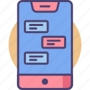 chat, chatroom, conversation, messaging, messaging app icon