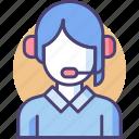 customer service, online, representative, support icon