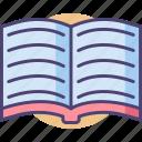book, open, open book, read, reading, textbook icon