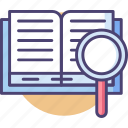 book, read, readership icon