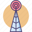 cell tower, ping, receiver, signal icon