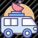 news van, satellite, satellite truck, truck icon