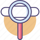 find, magnifier, magnifying glass, search icon