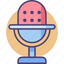 audio, mic, microphone, recorder, sound, voice, voice recording icon