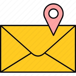 email, location icon