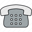 communication, contact, landline, phone, telephone icon