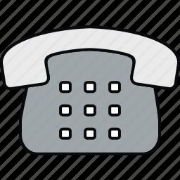 communication, contact, landline, phone, telephone icon