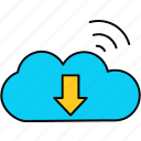 cloud, computing, network, signal, wifi, wireless icon