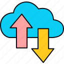 cloud, network, storage, connection, download, ftp, upload icon