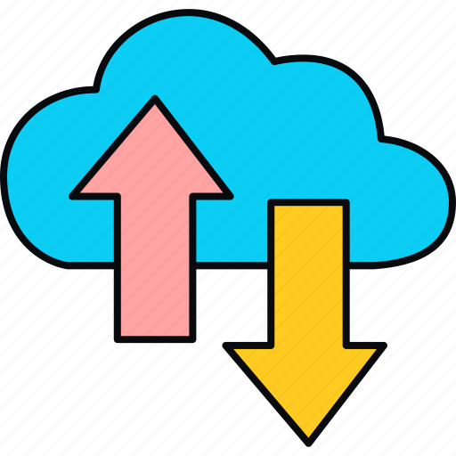 cloud, connection, download, ftp, network, storage, upload icon