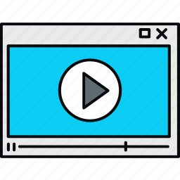 media, multimedia, player, video, videoplayer icon