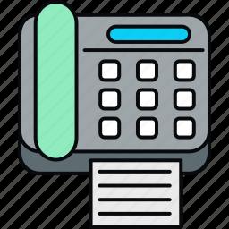 communication, fax, telephone icon