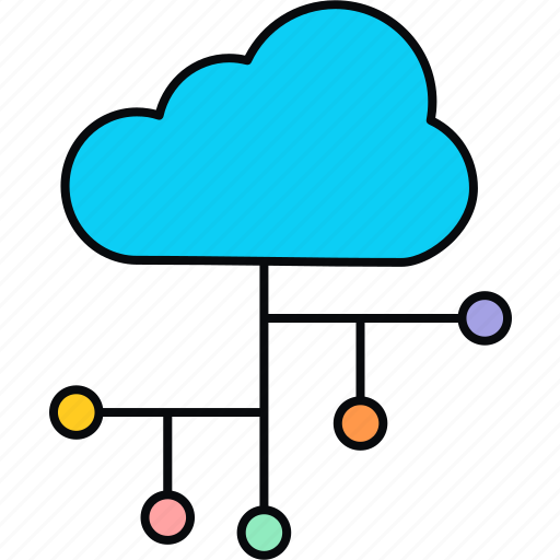 cloud, communication, computing, connection, network icon