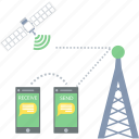 antenna, communication, network, satellite, tower icon