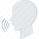 audio, speak, speech, talk icon