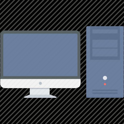 computer, cpu, desk, monitor, office, pc, screen icon