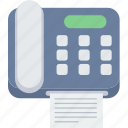 facsimile, fax, machine, paper, phone, telephone icon