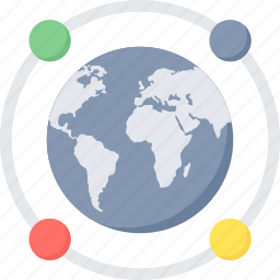 communication, connection, global, internet, network, web icon