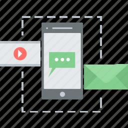 chat, communication, media, mobile, multimedia, phone icon