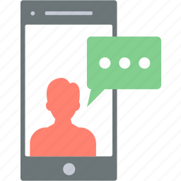 chat, message, mobile, phone, sms icon