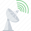 antenna, communication, connection, dish, satellite, tower icon
