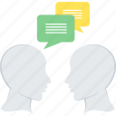 chat, communication, conversation, dialogue, discussion, group icon