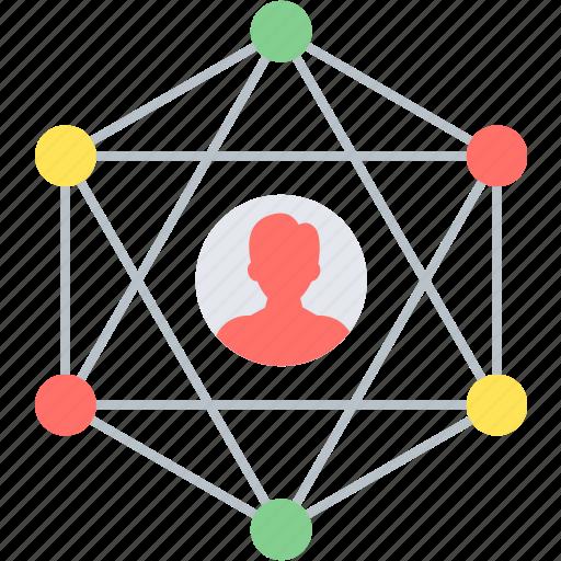 community, connection, internet, social, web icon