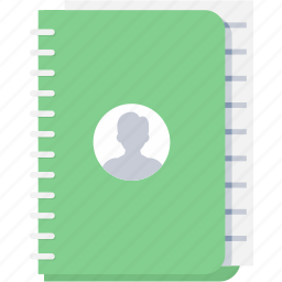 address book, book, communication, contact, contacts, phone, register icon