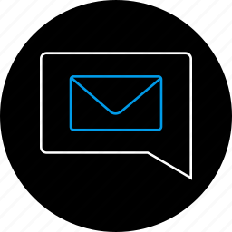 chat, communication, envelope, mail, message, notification, text icon