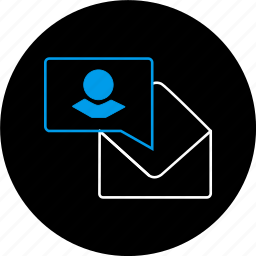 chat, communication, contact, envelope, message, notification, text icon
