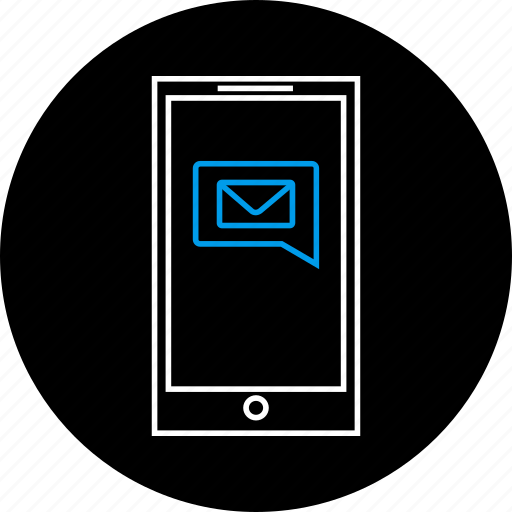 chat, communication, device, envelope, message, notification, text icon