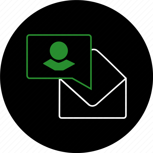 chat, communication, envelope, friends, message, notification, text icon