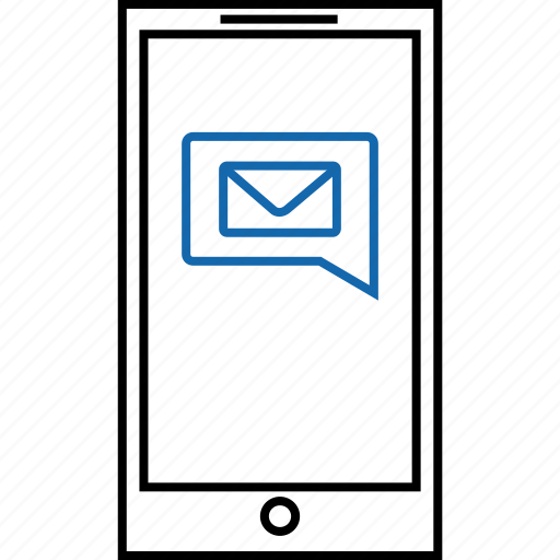 device, email, envelope, message, notification, text icon