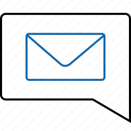 email, envelope, mail, message, notification, online, text icon