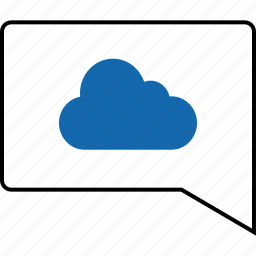 cloud, email, message, notification, server, text, web icon
