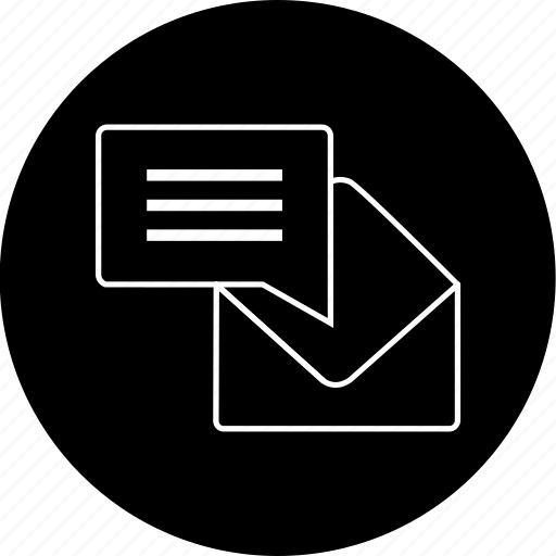 chat, communication, email, envelope, message, notification, text icon