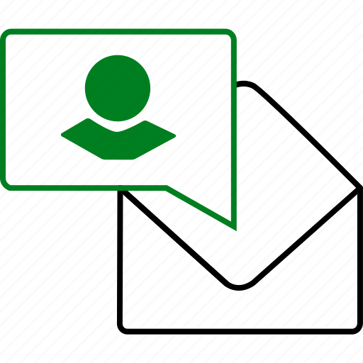chat, communication, envelope, message, notification, profile, text icon