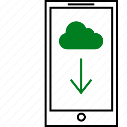 chat, cloud, communication, download, notification, server icon